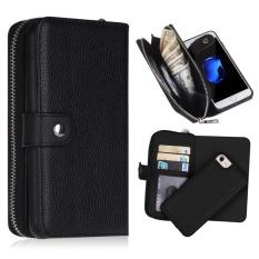 Wallet Phone Case, Tas Tangan, Dompet, Ritsleting Kulit (Hitam)-Intl