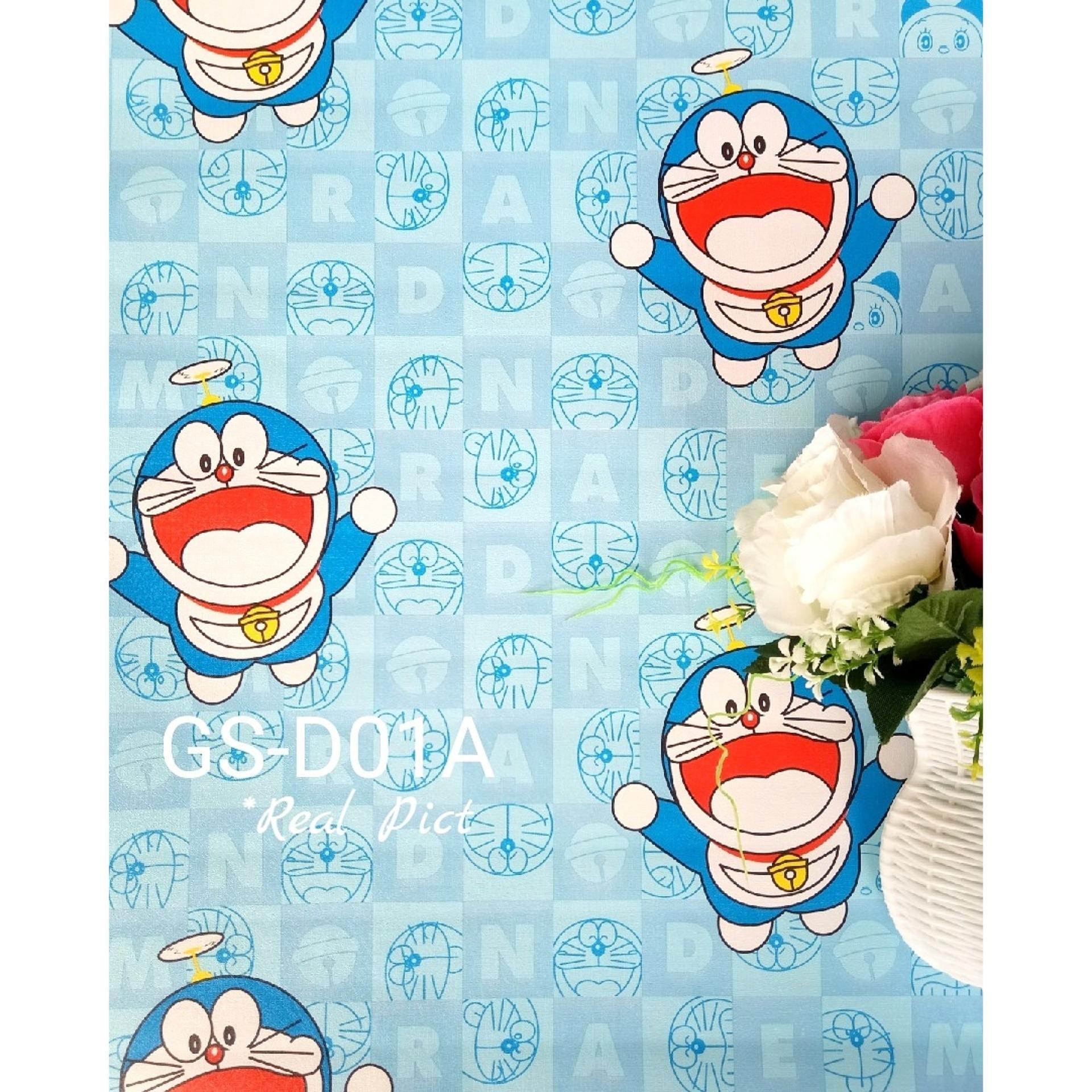 Harga Wallpaper Dinding Sticker Doraemon Kotak Kode D01 Termahal