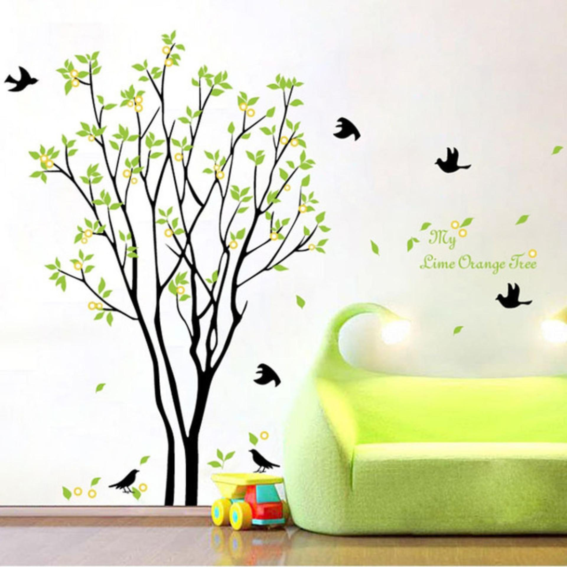 Rp 40.000. Wallsticker Lime Orange AY9094 - Stiker Dinding / Wall Sticker IDR40000