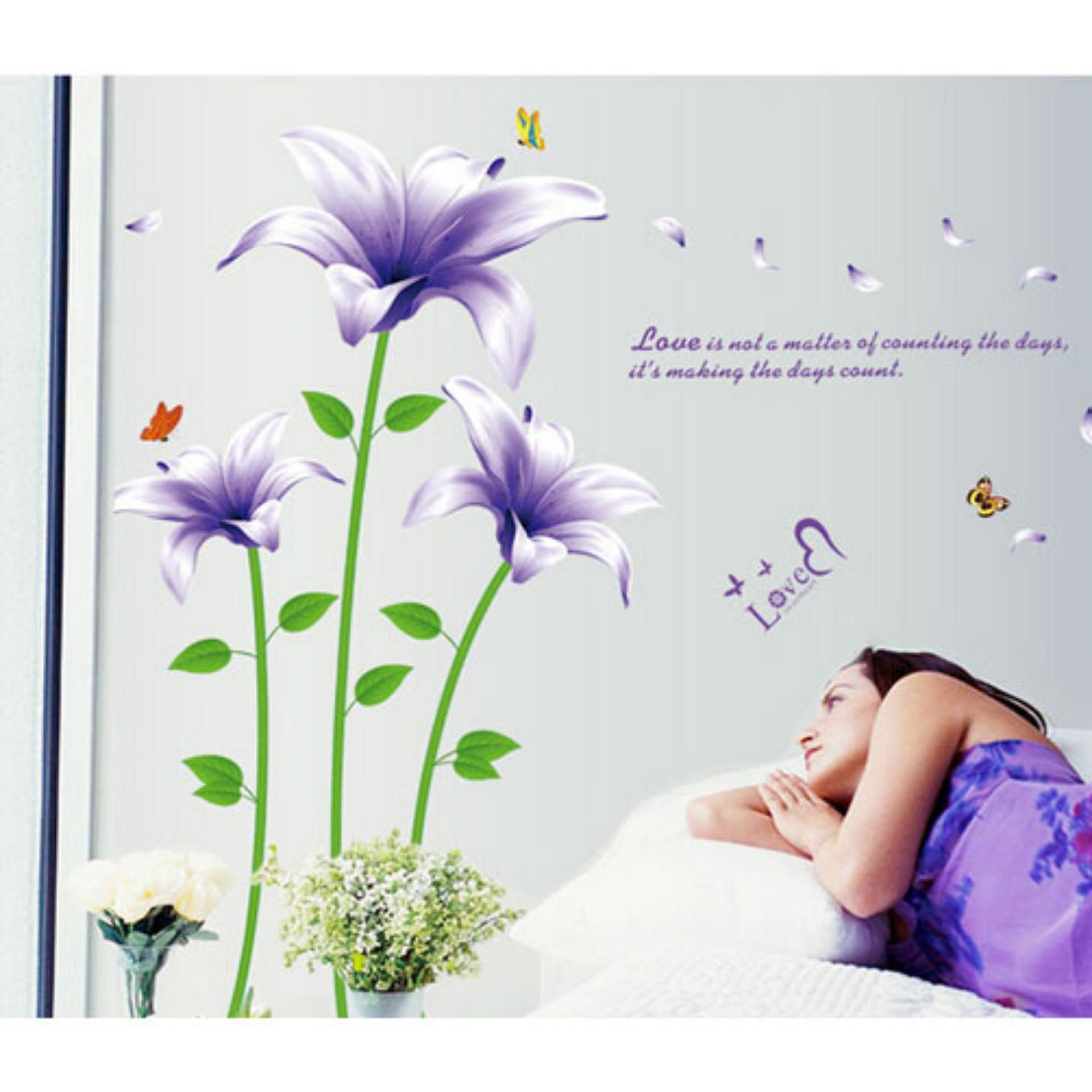 Harga Wallsticker Stiker Dinding Motif Tumbuhan 60X90 Multicolor Yg Bagus
