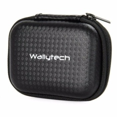 WallyTech Shock-proof Storage Bag for Xiaomi Yi & GoPro Case Hardcase Pelindung Kamera Aksi dari Kotoran Debu Goresan Hard Case Tempat Tas Penyimpanan Action Camera Xiao Mi Yi Go Pro Accessories Lockable Wrap-around Zipper Aman s7800 - Black