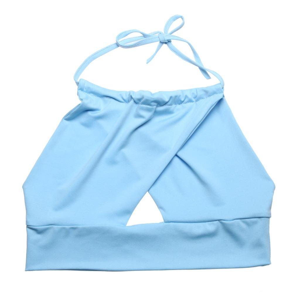 Spesifikasi Wanita Fashion Kasual S*xy Tank Top Strapless Bra Partai Rompi Biru M Online