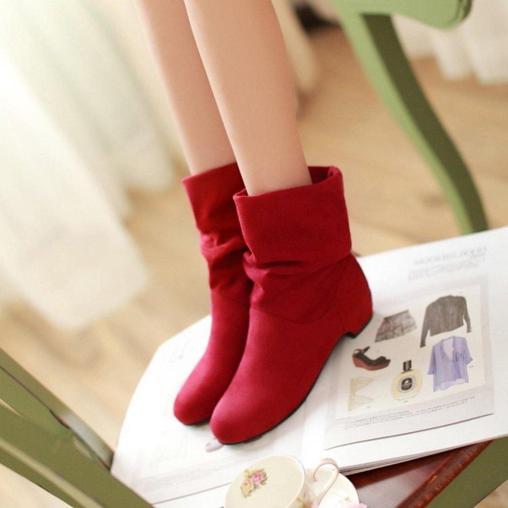 Review Toko Wanita Fashion Martin Boots Wanita Knight Boots Sepatu Matte Suede Boots