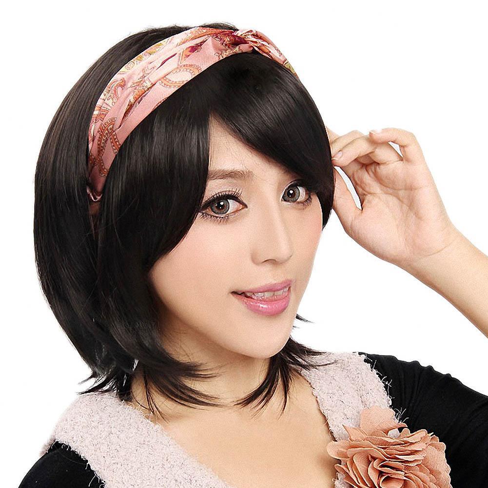 Wanita Seksi Pendek Lurus Wig Rambut Alami Wig-Intl