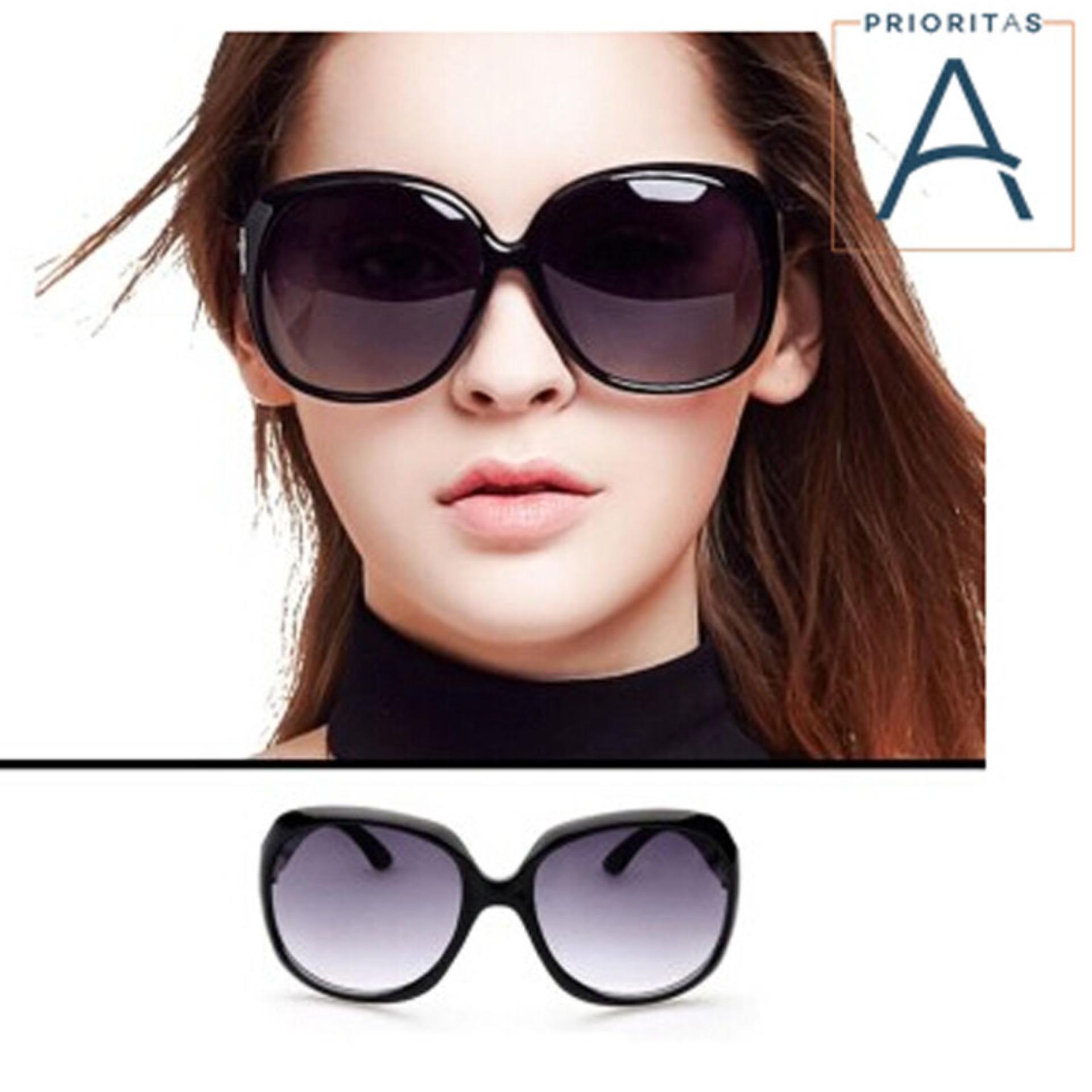 Diskon Wanita Terlalu Besar Round Sunglasses Mn2544 Blk Kacamata Wanita Akhir Tahun