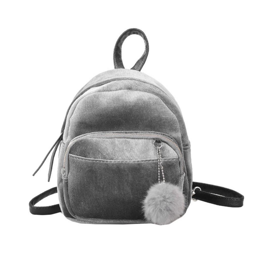 Wanita Velvet Schoolbag Travel Shoulder Bag Mini Ransel untuk Remaja Gadis-Intl