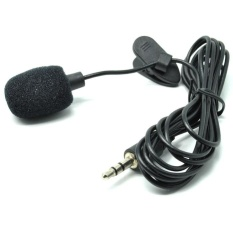 Wanky Alat Perekam Suara Mic Mikrofon Klip Penjepit jepit Untuk HP Android/Komputer PC Jack 3.5mm - Hitam Microphone Gadget HP Smarphone Laptop PC Suara Jermih Mic Internal
