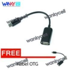 OTG Cable Connect Kit For Smartphone - Hitam + Gratis Kabel OTG