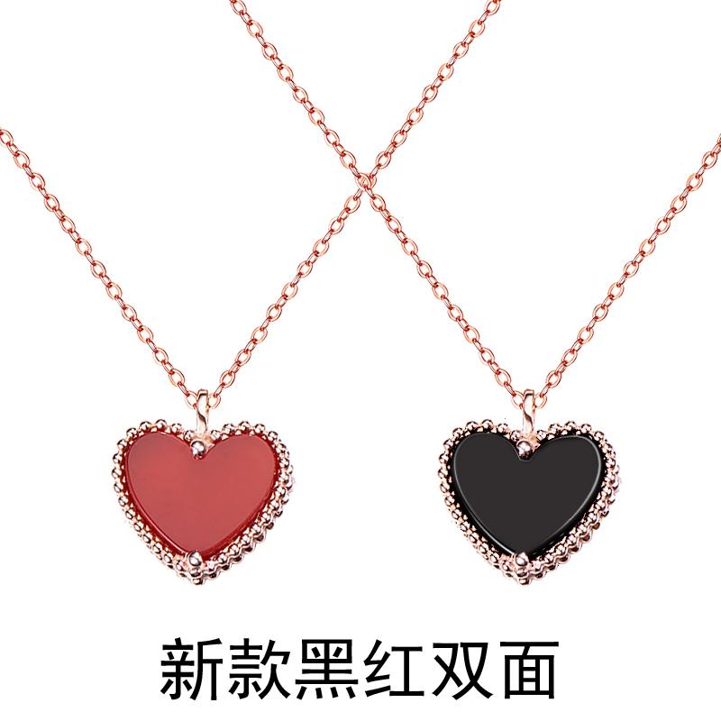 Warna Jepang atau Korea Selatan Baru Ayat Yang Sama Mini Rantai Klavikula Kalung
