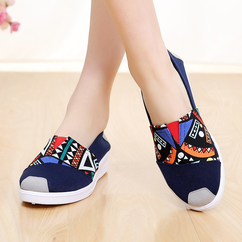 Jual Warna Warni Beijing Tua Flat Shoes Sepatu Musim Semi Single Sepatu Wanita 54X77 Lan Angin Nasional Sepatu Wanita Flat Shoes Online Di Tiongkok