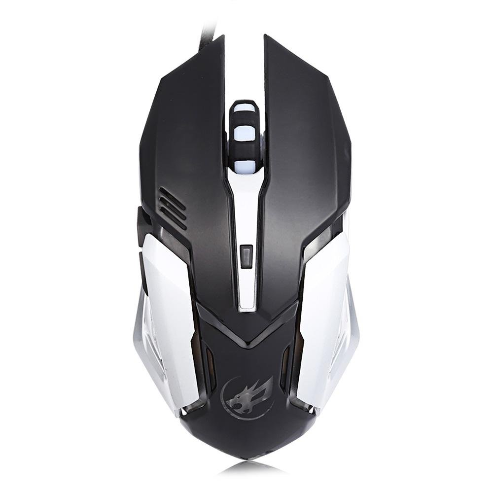 Warwolf T1 3200 Dpi 6D Optik Wired Definisi Makro Pemrograman Gaming Mouse Colorful Light (Hitam)-Intl