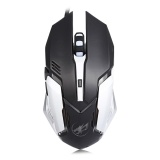 Beli Warwolf T1 Optical 3200 Dpi 6D Wired Pemrograman Makro Luminous Gaming Mouse Intl Terbaru