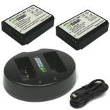 Jual Wasabi Power Battery 2 Pack And Dual Usb Charger For Canon Lp E10 Termurah