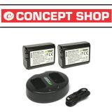 Kualitas Wasabi Power Battery 2Pcs And Dual Usb Charger For Sony Np Fw50 Wasabi Power