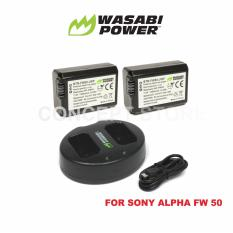 Harga Wasabi Power Battery 2Pcs And Dual Usb Charger For Sony Np Fw50 Wasabi Power Ori