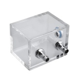 Promo Water Tank For Pc Water Cooling System With 2Pcs Tube Connecters 1Pc Block Clear Intl Vakind Terbaru