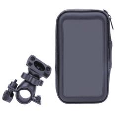 Review Sepeda Tahan Air Sepeda Motor Phone Case Bag Handlebar Mount Pemegang Hitam Intl Tiongkok