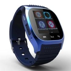 Spesifikasi Tahan Air Bluetooth Jam Tangan Pintar M26 Wanita Pria Bluetooth Jam Tangan Pintar Untuk Android Ios Smartphone Biru Dan Harganya