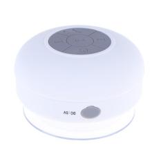 Diskon Besarwaterproof Bluetooth Sucker Speakers Bathroom Mini Sound Stereo Subwoofer White Intl