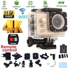 Review Terbaik Tahan Air Kamera Sj9000 Wifi 4 K 30Fps Tahan Air Camcorder Action Sports Camera Dengan Remote Control Dan Aksesoris Intl