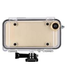 Tahan Air Case dengan Lensa Wide-Angle, GOPRO Konektor untuk iPhone 5/5 S/Se-Intl