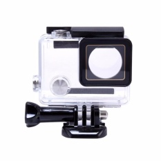 Beli Waterproof Flat Button Housing Case For Gopro Hero 3 4 Online Jawa Timur