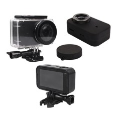 Waterproof Housing Case + Frame Shell Cover + Skin Case Cover + Lens Cap Protector for Xiao mi Mijia 4K Sport Action Camera Accessories kit