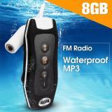Harga Tahan Air Mp3 Pemutar Musik Olahraga Berenang Radio Fm Earphone 8 Gb Hitam Intl Paling Murah