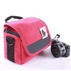 Tahan Air Fotografi Digital SRL Camera Case Shoulder Bag untuk Canon SX50 650D 700D 100D 500D 550D 600D 1100D DSLR Kamera (merah) -Intl