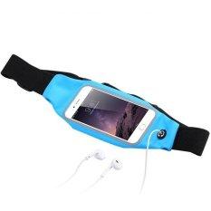 Tahan Air Menjalankan Sport Pinggang Pouch Tas Ponsel Case untuk IPhone 6 Plus/6 S Plus 5.5 Inch (warna: Hitam)