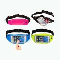 Waterproof Sport Waist Bag for Handphone Android for Sony Xperia C3/C3 Dual - Hitam