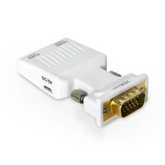 Wavlink 1080 P VGA Ke HDMI Video Audio Mini Konverter Adaptor dengan 3.5 Mm Audio Mendongkrak untuk Buah, HDTV, Monitor, Proyektor, Kabel USB Yang Disertakan dan Kabel Audio-Internasional