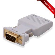 Wavlink 1080 P VGA Ke HDMI Video Audio Adaptor Konverter Mini With 3.5mm Audio Jack For PC, HDTV, Monitor, Ratio Sebuah Termasuk Kabel USB And Kabel Audio