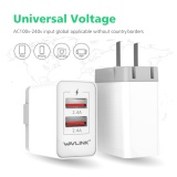 Diskon Wavlink 2 Port 24 W 4 8A Wall Charger Travel Charger Dengan Quick Charge Usb 3 Dan Dapat Dilipat Plug Us Plug Wavlink