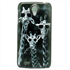Waya Merek Baru untuk Lenovo S820 Case Luxury Giraffe Yang Unik dengan Desain Kacamata Plastik Keras Tahan Lama Pelindung Ponsel Case Cover-Intl