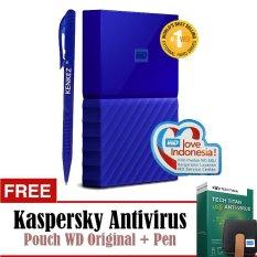 Spesifikasi Wd My Passport New Design 1Tb 2 5Inch Usb3 Biru Free Kaspersky Pouch Pen Baru