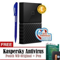WD My Passport New Design 1TB/2.5Inch/USB3.0 - Hitam+Free Kaspersky+Pouch+Pen