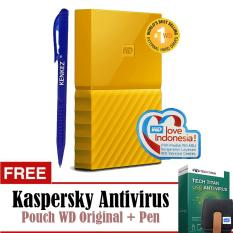 WD My Passport New Design 1TB/2.5Inch/USB3.0 - Kuning+Free Kaspersky+Pouch+Pen