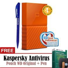 Harga Wd My Passport New Design 1Tb 2 5Inch Usb3 Orange Free Kaspersky Pouch Pen Wd Original