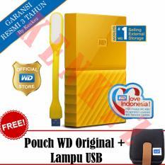 WD My Passport New Design 1TB Portable Storage USB 3.0 - Kuning Harddisk Eksternal 2.5