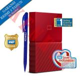 Diskon Produk Wd My Passport New Design 1Tb 2 5Inch Usb3 Merah Pen