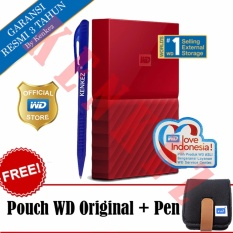 Jual Wd My Passport New Design 2Tb Portable Storage Usb 3 Merah Harddisk Eksternal 2 5 Pouch Wd Pen Wd Branded