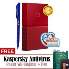 WD My Passport New Design 4TB/2.5Inch/USB3.0 - Merah+Free Kaspersky+Pouch+Pen
