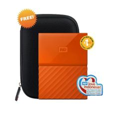 Harga Wd My Passport New Design Hdd Eksternal 2 5 4Tb Usb3 Orange Free Hardcase Murah
