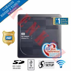 WD My Passport Wireless Pro Hardisk Eksternal 3TB USB3.0 Wi-Fi - Hitam