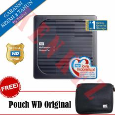 WD My Passport Wireless Pro Hardisk Eksternal 3TB USB3.0 Wi-Fi - Hitam + Pouch