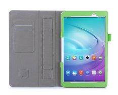 Kami & Me PU Leather Case Stand Cover untuk Huawei MediaPad T2 10.0 Pro 10 Inch Tablet dengan Velcro Hand Strap dan Slot Kartu Shell (Hijau) -Intl