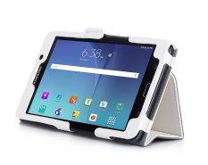 Kami & Me PU Leather Case Stand Cover untuk Samsung Galaxy Tab A 7.0 Case WIFI SM-T280/4g LTE SM-T285 Case dengan Velcro Hand Strap, Slot Kartu dan Auto Wake Sleep (Putih)-Intl