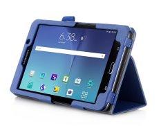 Kami & Me PU Leather Case Stand Cover untuk Samsung Galaxy Tab A 7.0 Case WIFI SM-T280/4g LTE SM-T285 dengan Velcro Strap Tangan, Slot Kartu dan Auto Wake Tidur (Biru)-Intl
