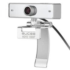 Webcam 1080 P, GUCEE HD92 Full HD Kamera Web dengan Mikrofon, Skype Webcam Video Yang Jernih Wide Angle, Webcam USB untuk PC Laptop Desktop Notebook, Kompatibel dengan Windows 10/8/7 dan Mac OS X-Intl